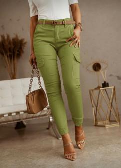 Γυναικείο παντελόνι με τσέπες 5599 πράσινο