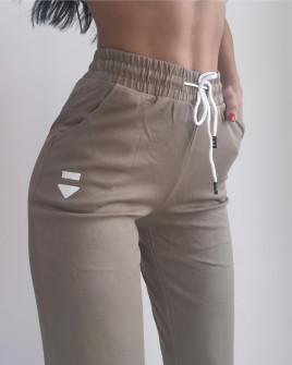 Γυναικείο αθλητικό παντελόνι KLBB02X  καμηλό