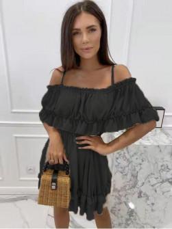 Γυναικείο κοντό φόρεμα 21524 μαύρο