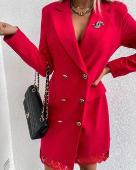 Γυναικείο φόρεμα με δαντέλα 3782 μαύρο