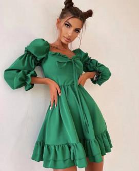 Γυναικείο εντυπωσιακό φόρεμα 4318 πράσινο