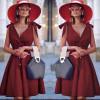 Γυναικείο φόρεμα 3520 μπορντό