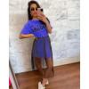Γυναικείο μπλουζοφόρεμα με τούλι 3435 μπλε