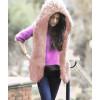 Χνουδωτό αμάνικο μπουφάν 1750 ροζ