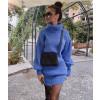 Γυναικείο μπλουζοφόρεμα 33341 μπλε