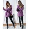 Γυναικείο παλτό με ζώνη χωρίς φόδρα 5290 λιλά