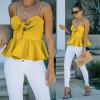 Γυναικείο εντυπωσιακό τοπάκι 8104 κίτρινο