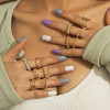 Γυναικείο σετ δαχτυλίδια 12τμχ. SP327 χρυσαφί