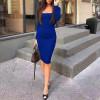 Φόρεμα με τετράγωνο ντεκολτέ 3450 μπλε