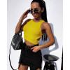 Αμάνικο κοντό μπλουζάκι 5646 κίτρινο