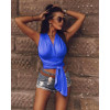 Γυναικείο τοπάκι με κορδόνι 3725 μπλε