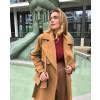 Γυναικείο παλτό με φόδρα 8719 καμηλό
