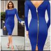 Γυναικείο φόρεμα με φερμουάρ 3824 μπλε