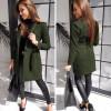 Γυναικείο παλτό με ζώνη και φόδρα 20501 χακί