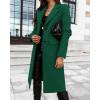 Γυναικείο κομψό παλτό 8680 πράσινο