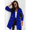 Παλτό πτι καρό με φόδρα 5431 μπλε