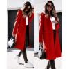 Γυναικείο παλτό μίντι με φόδρα 5361 κόκκινο