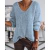 Γυναικείο πουλόβερ 888 γαλάζιο