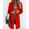 Γυναικείο κομψό παλτό με φόδρα 5332 κόκκινο