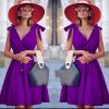 Γυναικείο φόρεμα 3520 μοβ