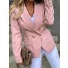 Γυναικείο σακάκι με χρυσά κουμπιά 3909 ροζ