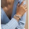 Σετ γυναικεία βραχιόλια 3τμχ. SP38 ασημί