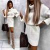 Γυναικείο πλεκτό μπλουζοφόρεμα 00822 άσπρο