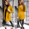 Γυναικείο παλτό με ζώνη και φόδρα 20501 μουσταρδί
