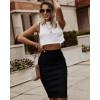 Γυναικεία ψηλόμεση φούστα 5195 μαύρη