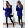 Γυναικείο παλτό με ζώνη χωρίς φόδρα 5290 μπλε