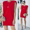 Γυναικείο μπλουζοφόρεμα με βάτες 2984 κόκκινο