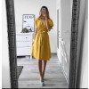 Γυναικείο φόρεμα με ζώνη 1978 κίτρινο