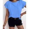 Γυναικείο κοντομάνικο με τσέπη 81525 μπλε