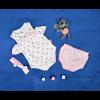 Βρεφικό σετ 3 τμχ. κορμάκι. παντελονάκι και κορδέλα 5055349 ανοιχτό ροζ