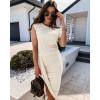 Γυναικείο εντυπωσιακό φόρεμα 5132 μπεζ