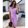 Γυναικείο εντυπωσιακό φόρεμα 5132 λιλά