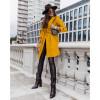 Γυναικείο παλτό με φόδρα και ζώνη 5334 μουσταρδί
