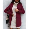 Παλτό με φόδρα 8041 μπορντό