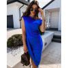 Γυναικείο εντυπωσιακό φόρεμα 5132 μπλε