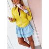 Γυναικείο μπουφάν με λάστιχο 3088 κίτρινο