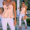 Γυναικείο εντυπωσιακό τοπάκι 8104  ροζ