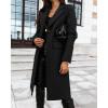 Γυναικείο κομψό παλτό 8680 μαύρο