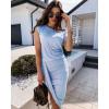 Γυναικείο εντυπωσιακό φόρεμα 5132 γαλάζιο