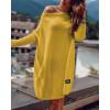 Γυναικείο πλεκτό μπλουζοφόρεμα 00633 κίτρινο