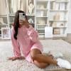 Γυναικείο μπλουζοφόρεμα με κουκούλα 3601 ροζ