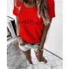 Γυναικείο κοντομάνικο 0090913 κόκκινο