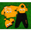 Βρεφικό σετ 5τμχ.παντελονι με κλειστό πόδι, μπλούζα, σκουφάκι, γάντια και σαλιάρα 50515522 ψαράκι