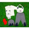 Βρεφικό σετ 5τμχ. αρκουδάκι 50515317 σκούρο μπλε/κόκκινο