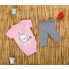 Βρεφική ολόσωμη φόρμα με κουκούλα 50521-134 ανοιχτό ροζ