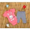 Βρεφική ολόσωμη φόρμα με κουκούλα 50521-134 ροζ